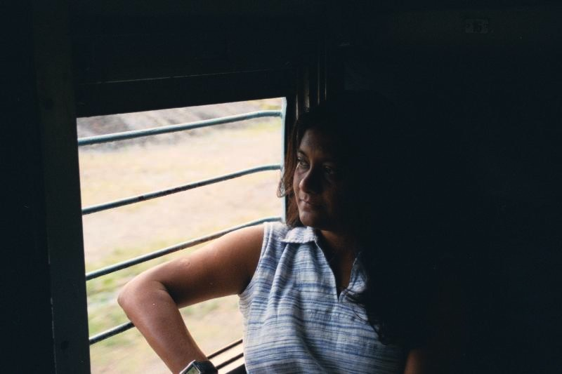 Anuradha Goyal in Train