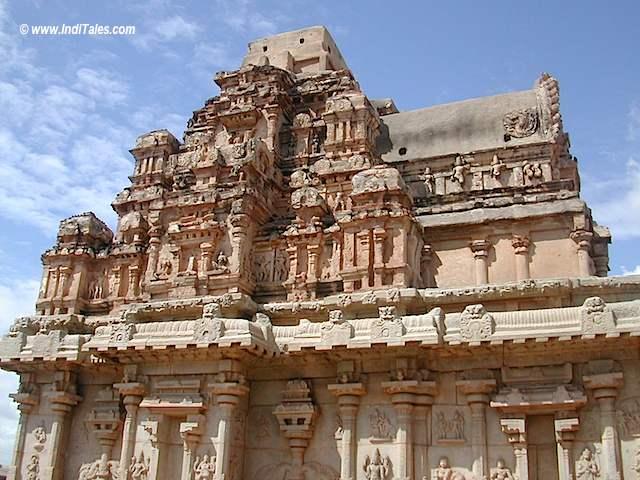 A temple Shikhara at Hampi Travelogue