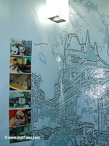 Art display at Kala Ghoda Arts Festival, Mumbai 2006