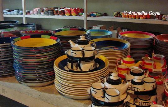 Khurja pottery items