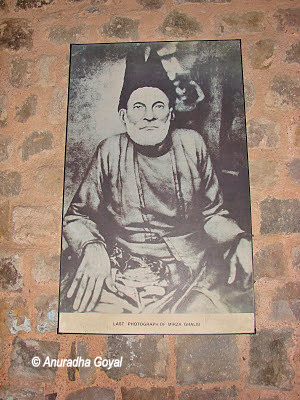 Portrait of Mirza Ghalib at his Haveli in Ballimaran Delhi