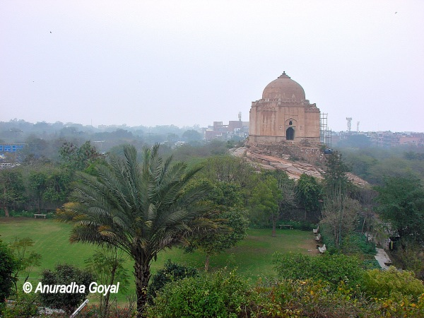 Adam Khan's Tomb as seen from Jain Temples