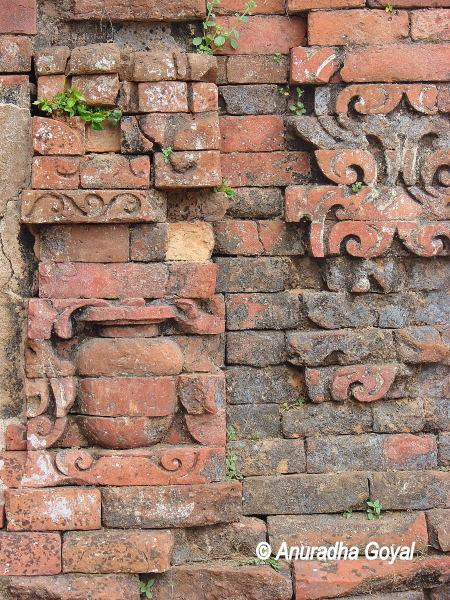 Pot made with baked bricks at Nalanda