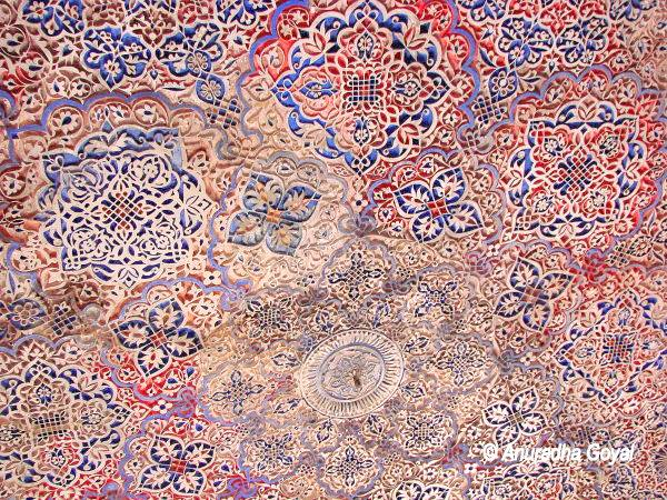 Colorful Tile works at Mehrauli Archaeological Park