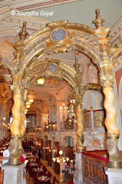 Pillars, arches & Clocks at New York Café, Budapest