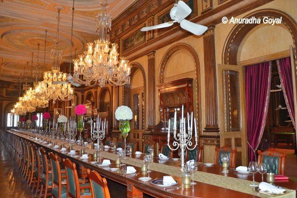 World's longest dining table at Falaknuma Palace