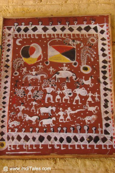 Tribal Paintings at Araku Tribal Museum