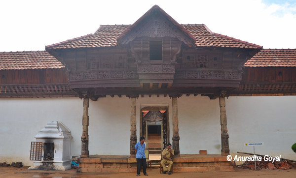 Huge pillared entrance of Padmanabhapuram Palace