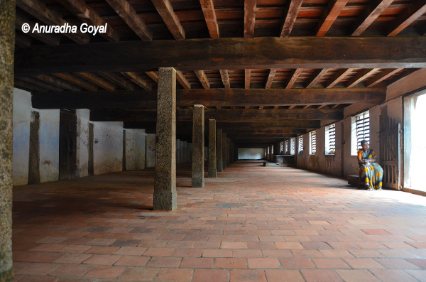 Ottupura that can seat up to 2000 persons for eating at Padmanabhapuram Palace