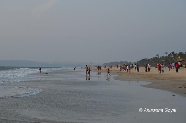 Revellers at Colva beach, Goa