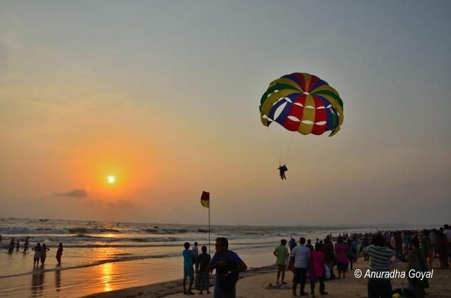 Evening time at Colva beach, Goa
