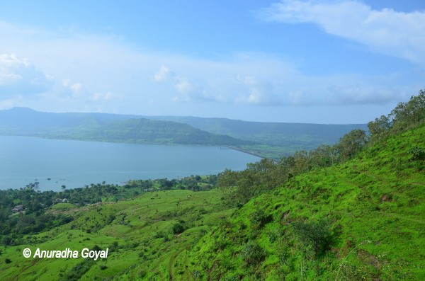 View of the lake supplying water to Satara, Maharashtra