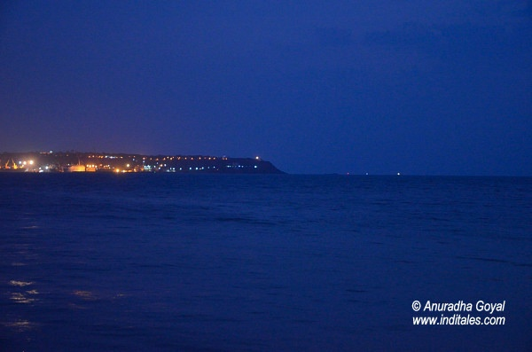 Lights of Vasco Goa in the evening