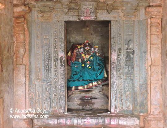 Goddess Banashankari Idol at Amargol, Chalukyan Temples, Hubli