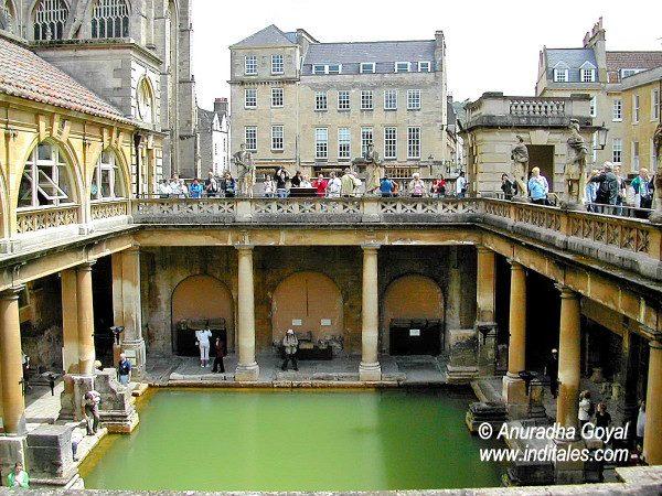 Ancient Roman Bath at Bath, UK