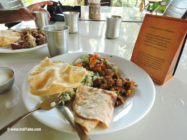 Simple yet Sattvik Food at Sai Vishram Beach Resort