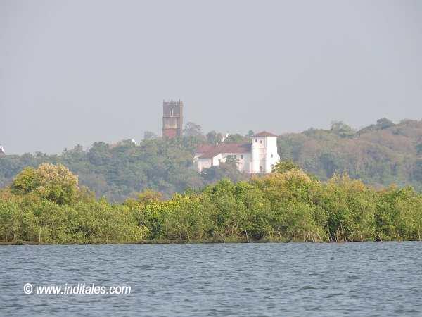 Old Goa Churches from Mandovi