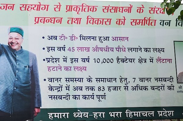 Government Boards in Himachal talk about Green Himachal Pradesh, monkey sterilization and medicinal plants