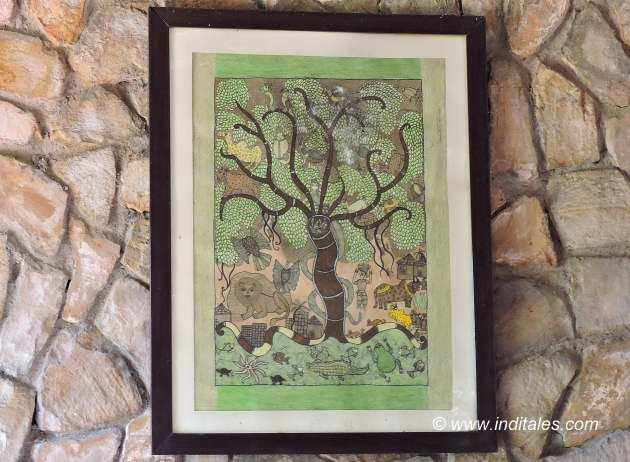 Gond Painting at Kings Lodge Bandhavgarh