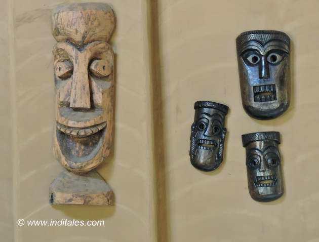 Masks at Kings Lodge Bandhavgarh