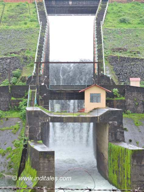 Spillway for water at Salaulim dam