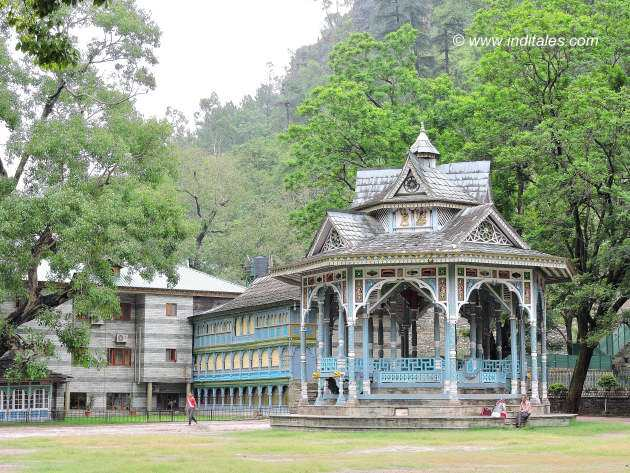 Canopy for public audience of the King at Padam palace of Rampur Himachal Pradesh