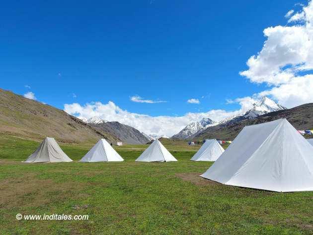 Parasol Camp near Chandratal Lake