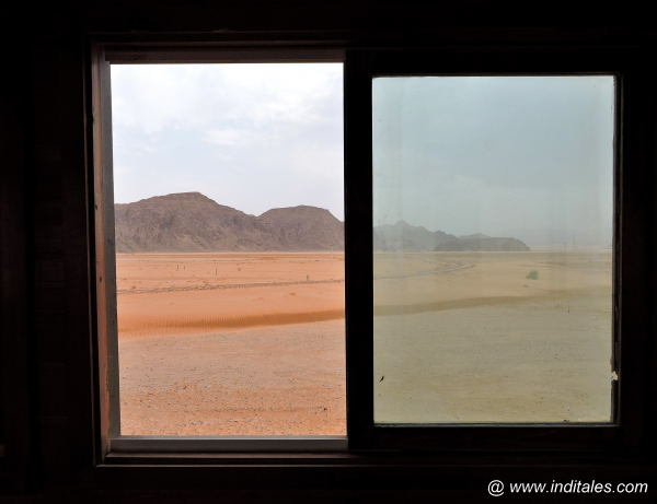 Landscape from the Hejaz railway Train Window, Wadi Rum, Jordan