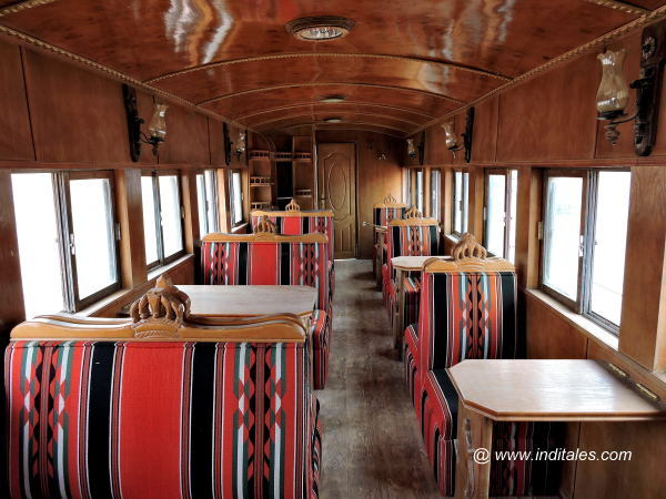 Plush interiors of the Hejaz Railway Wagon