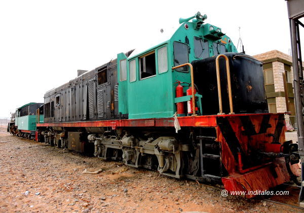 Hejaz Railways Train at Wadi Rum Station, Jordan