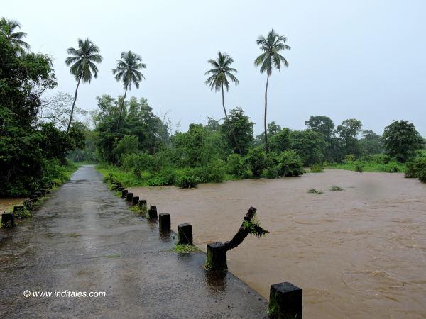 Swollen river enroute Amboli Ghat