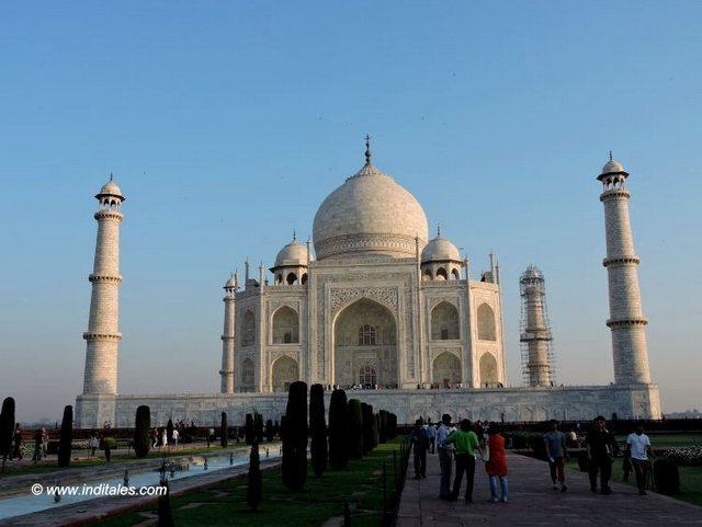 Iconic view of Taj Mahal , Agra