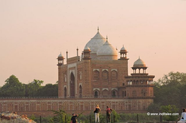 West facing Mosque in red Sandstone, Taj Mahal, Agra