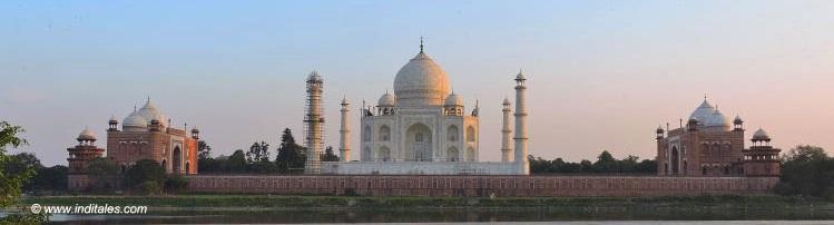 Taj Mahal Panorama from Mehtab Bagh, Agra