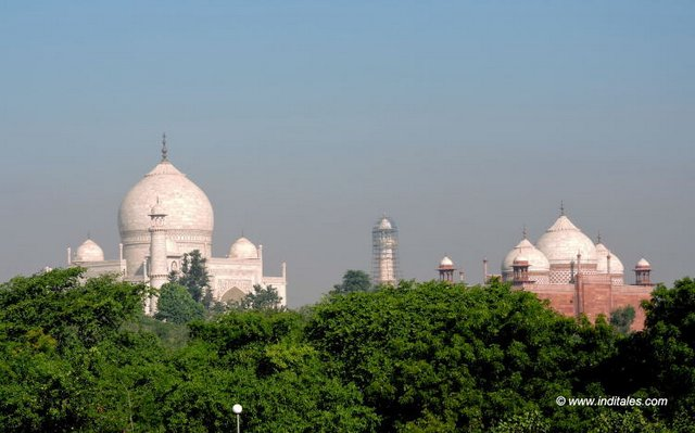 Taj Mahal - View from Taj Khema