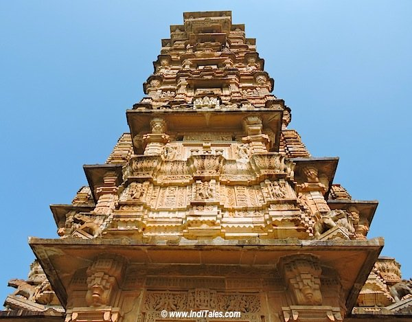 Reaching the sky Vijay Stambha, Chittorgarh