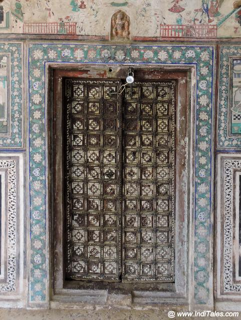Ivory work on the doors at Chitrashala