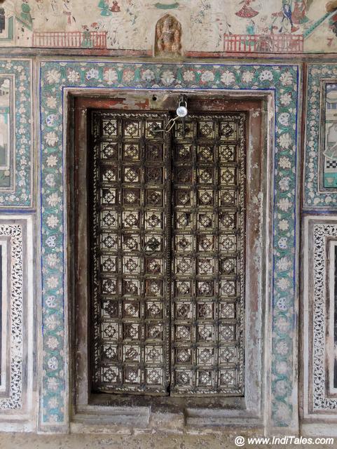 Ivory work on the doors at Chitrashala