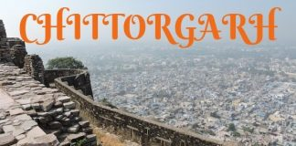Chittorgarh town view from the fort