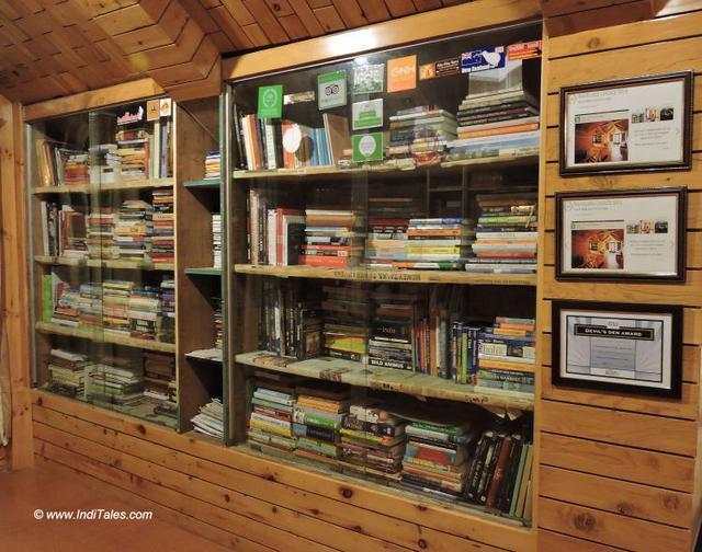 Library of literature on Himalayas & Buddhism at Kalpa Himachal Pradesh