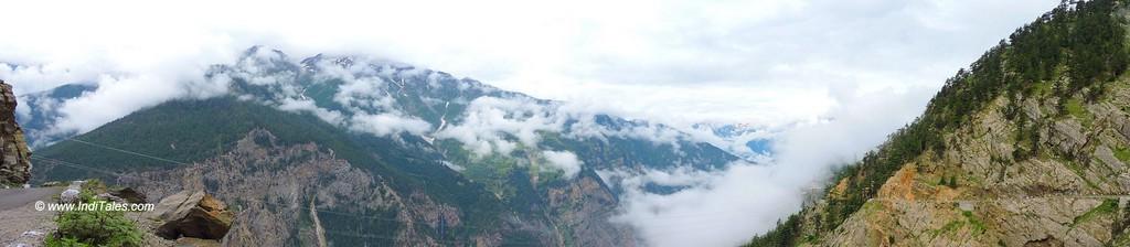 View from Suicide Point in Kalpa, Kinnaur