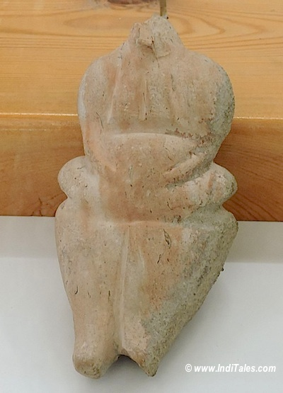 Mother Goddess Figurine in Clay at Amman Citadel museum Jordan