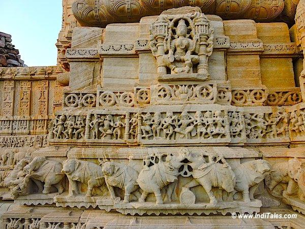 Carvings on Temple Walls Chittorgarh Fort