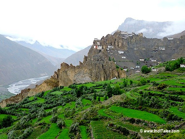 Cliff Fort or Dhankar Monastery Spiti Valley Himachal Pradesh