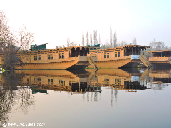 Houseboats in Srinagar at Nagin Lake