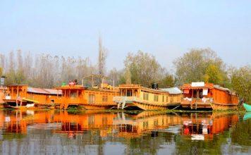 Houseboats on Nagin Lake, Srinagar