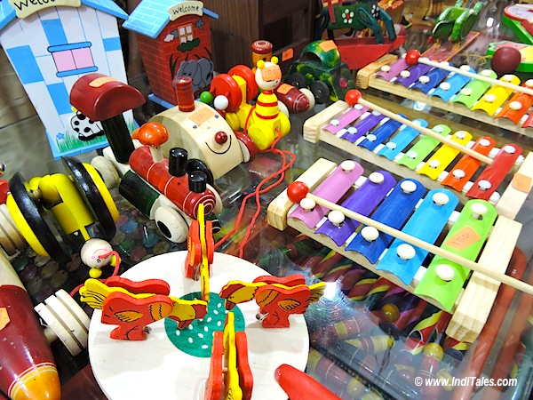 Wooden toys at Sawantwadi