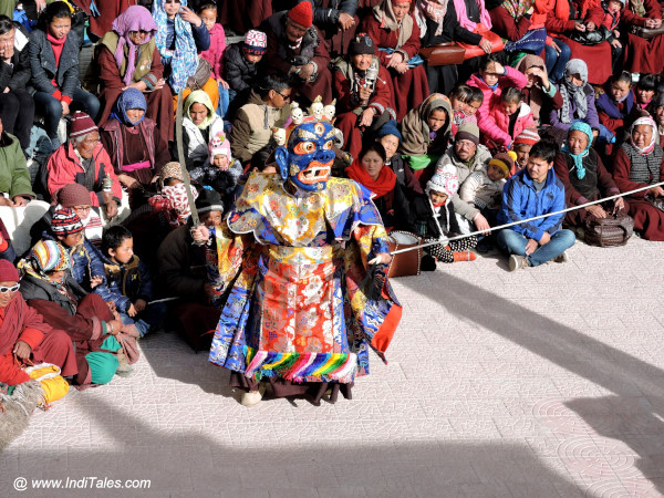 Blue Masked Dancer at Cham Dance, Gustor Monastery, Ladakh