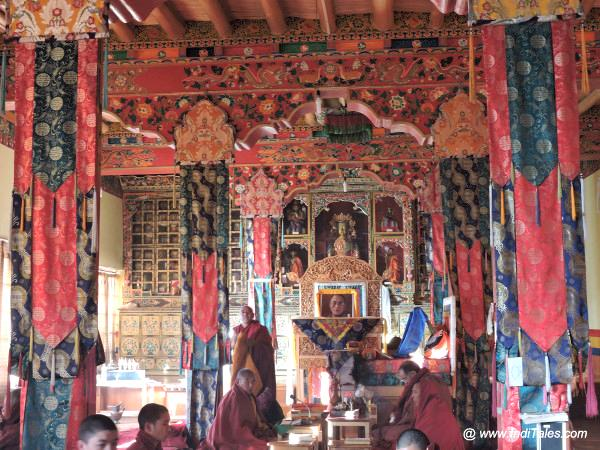 Prayers at Thiksey Monastery Ladakh