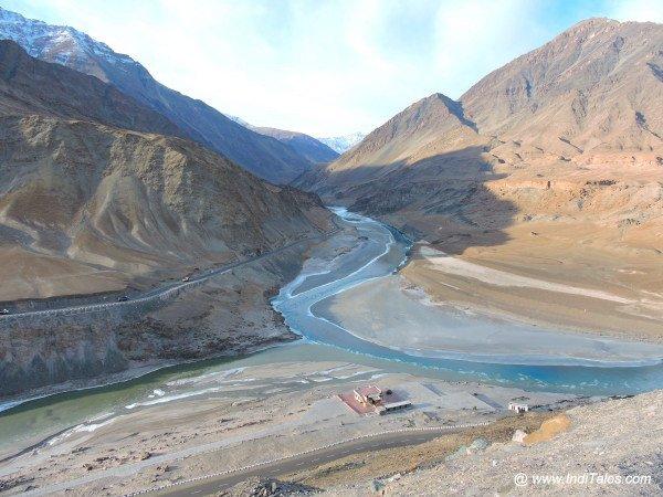 Confluence of Indus & Zanskar in Ladakh